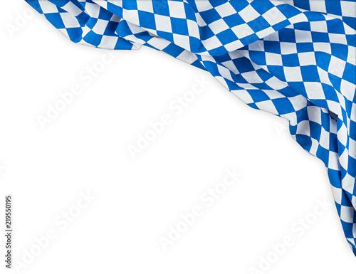 bavaria flag oktoberfest empty isolated  background with copy space bavarian ger Fototapet