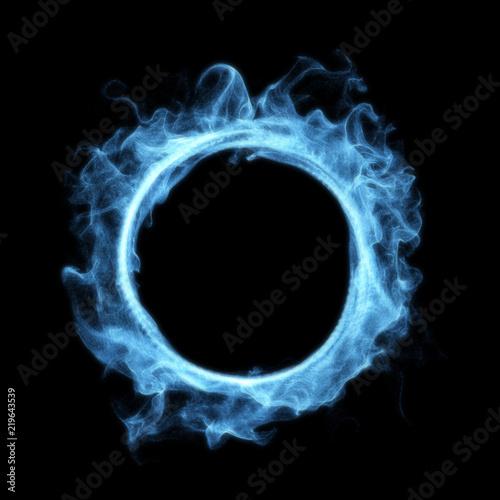 Canvastavla Blue Smoke Magic Glowing Portal