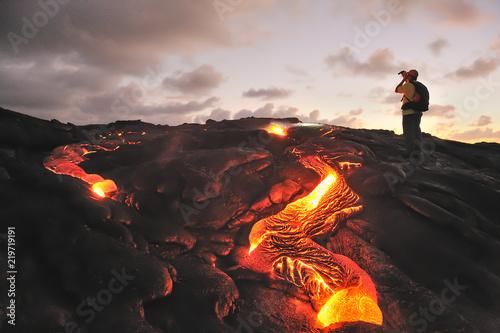 Kilauea lava flow, Big Island, Hawaii