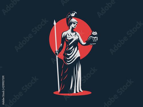 Photo The goddess Athena.