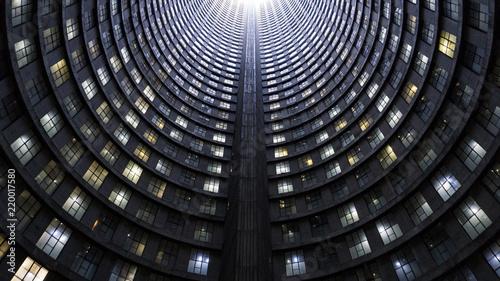 Fototapeta premium Wnętrze wysokiej słynnej wieży, Johannesburg, RPA