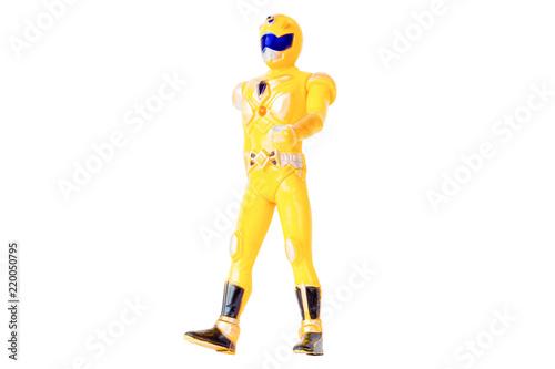 Photo Robot Toys Yellow isolated white background
