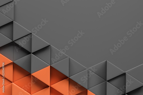Abstract grey orange triangle pattern background