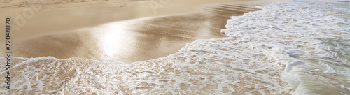 Canvas Print Beautiful shoreline at tropical sandy beach in Oahu island, Hawaii
