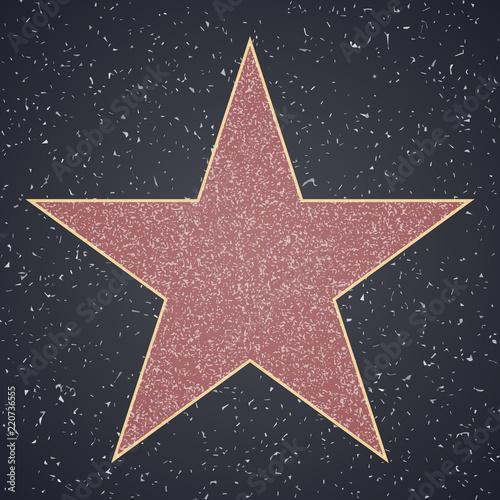 Fotografia, Obraz Walk Of Fame. star blank template