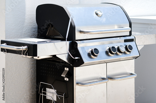 Stainless steel gas grill bbq barbecue