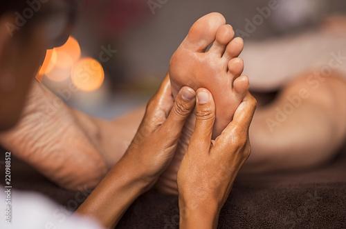 Foot reflexology massage