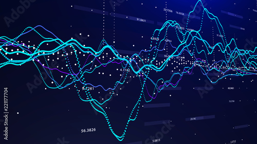 Tablou Canvas Stock market graph investment graph concept 3d rendering.