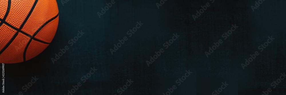 Basketball banner on dark background