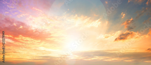 Fotografia, Obraz Celestial World concept:Sunset / sunrise with clouds