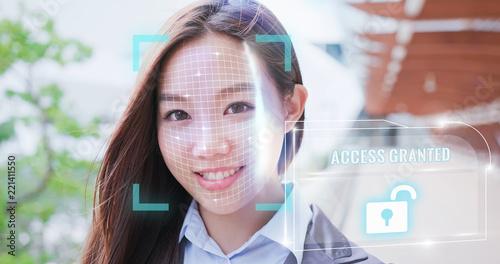 Unlock face ID scan