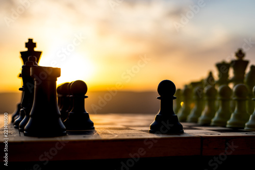 Tela chess board game concept of business ideas and competition and strategy ideas
