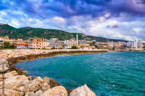 Scenic sea coast near Tripoli, Lebanon