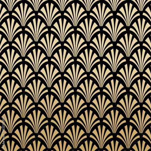 Geometric Art Deco Pattern Background Design