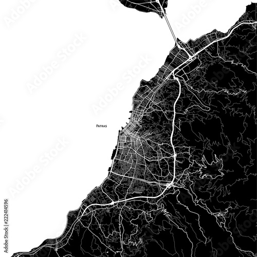 Fotografie, Obraz Area map of Patras, Greece