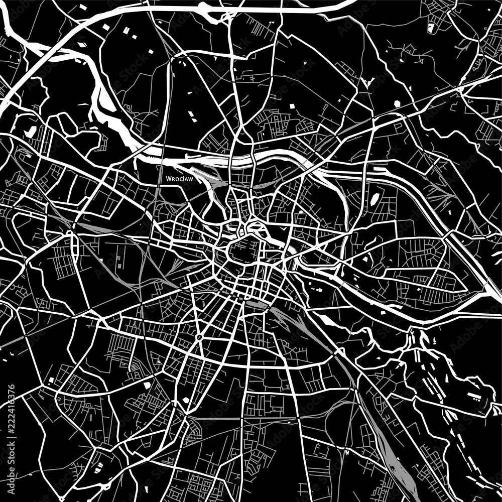 Area map of Wrocław, Poland <span>plik: #222416376 | autor: netsign</span>