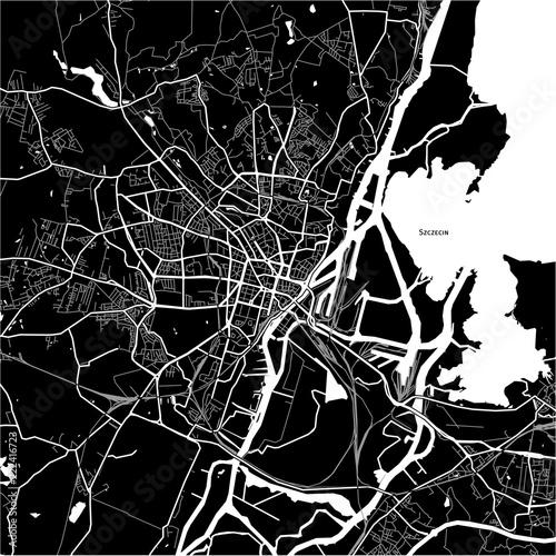 Fotografie, Obraz Area map of Szczecin, Poland