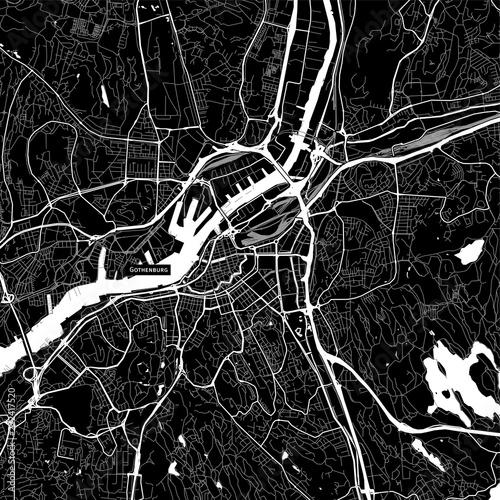 Photo Area map of Gothenburg, Sweden