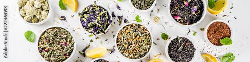 Obraz na plátně Assortment of various tea