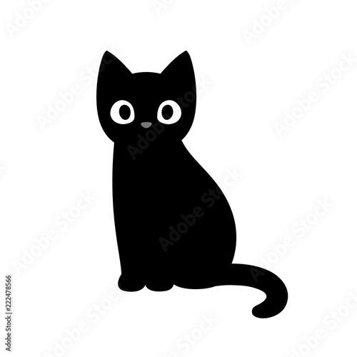 Fotografia Cute cartoon black cat