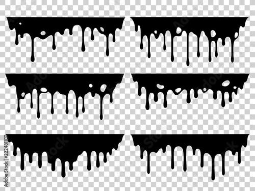 Dripping oil stain Fototapeta