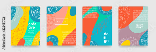 Abstract fun color pattern cartoon texture for doodle geometric background Fototapet