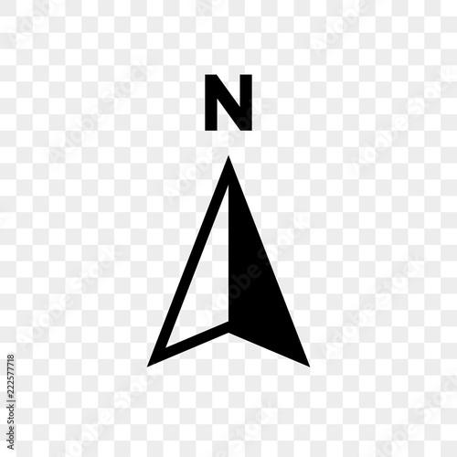 Fotografie, Obraz North arrow icon N direction vector point symbol