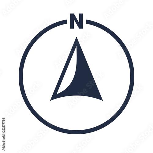 Fototapeta North arrow icon N direction vector point symbol