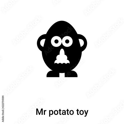 фотография Mr potato toy icon vector isolated on white background, logo concept of Mr potat