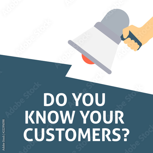 Canvas Print DO YOU KNOW YOUR CUSTOMERS? Announcement