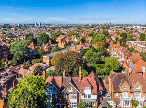 Turnham green and Chiswick suburb area in London