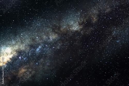 Fototapeta premium Gwiazdy i galaktyka kosmosu niebo noc wszechświat czarne gwiaździste tło starfield