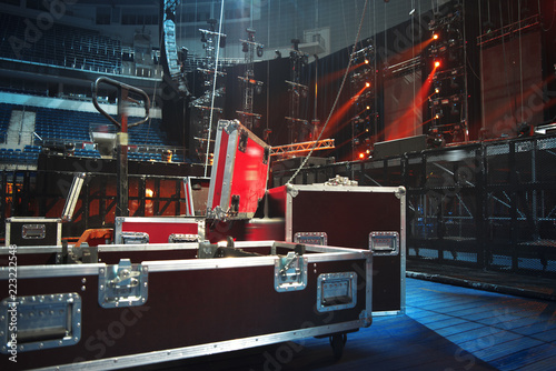 Preparing the stage for a concert Fototapet