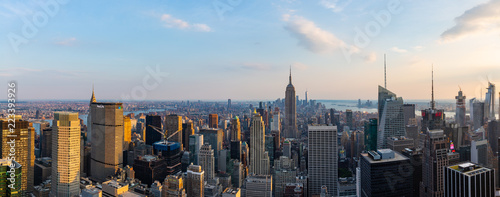 Canvas Print Manhattan - View from Top of the Rock - Rockefeller Center - New York