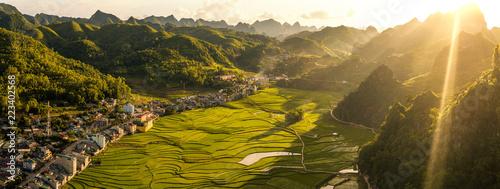 Stampa su Tela Dong Van, Ha Giang province, North Vietnam