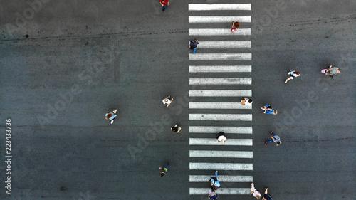 Fotografija Pedestrian crosswalk background
