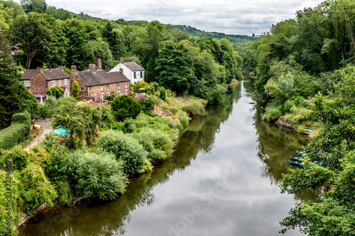 Photo The River Severn in Ironbridge Gorge in Shropshire, England