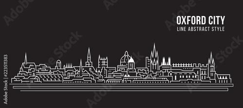 Fotografia Cityscape Building Line art Vector Illustration design - Oxford city