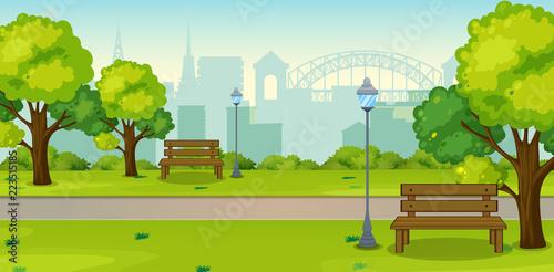Photo A park in urban city