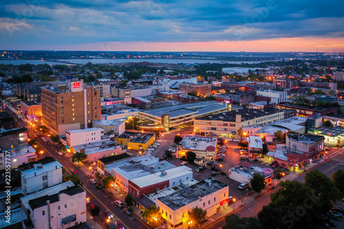 Aerial Sunset in Perth Amboy New Jersey