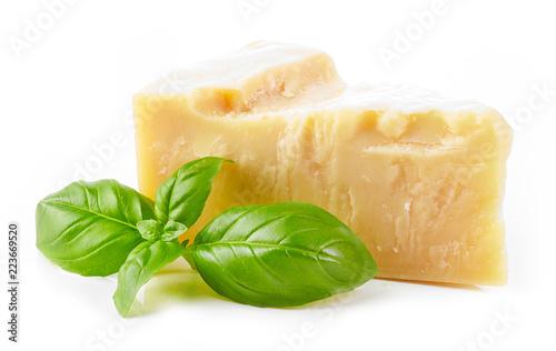 parmesan cheese and basil