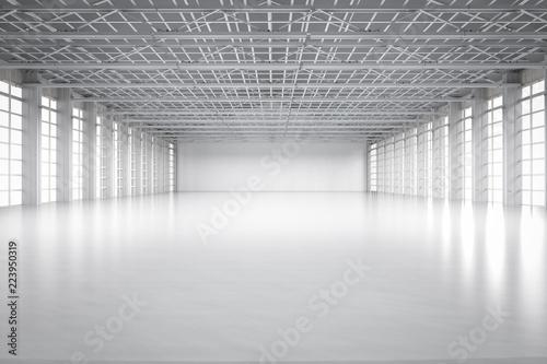 Fotomural empty factory interior