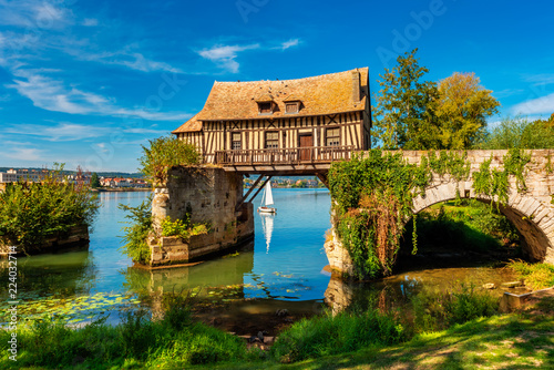 Wallpaper Mural Old Timbered Water Mill in Vernon Normandy France