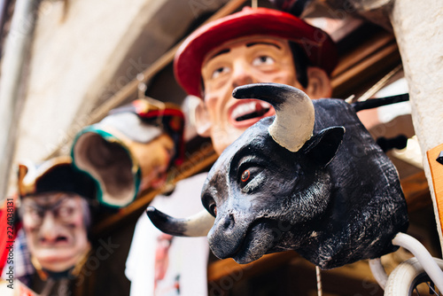 Fotografia Children's toys in Pamplona.  Traditioanl Spanish