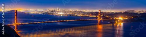 Obraz na plátne Golden Gate bridge Sunset