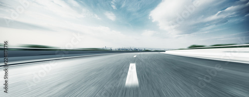 Fotografie, Tablou empty highway through modern city