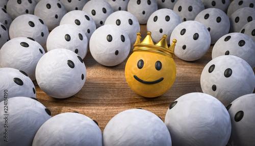 Slika na platnu 3D Illustration der König und die Staunenden