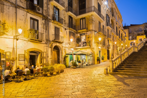 Canvas Print Salerno in the Evening, southern Italy