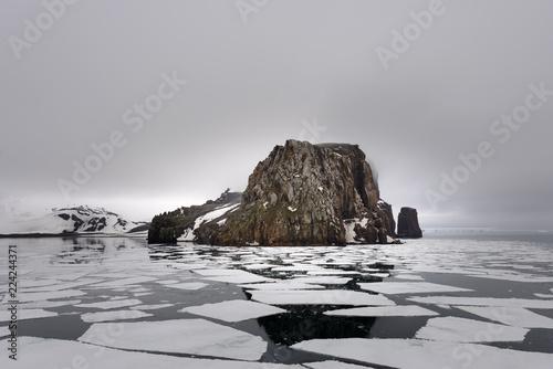 Rocks on Deception island, Antarctica