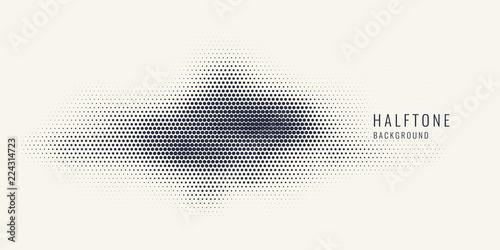 Monochrome printing raster, abstract vector halftone background Fototapeta